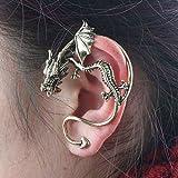 Fashion Antik Silber Drachen Schlange Ohr-Stulpe Clip Wickeln Sie Ohrringe Gotik Punk Rock Geschenk EMO