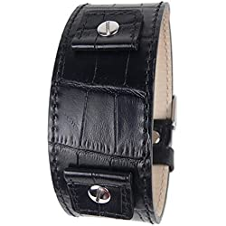 Eulit watch strap calf Leather band Black with Interchangeable Strap 18mm 20mm 22mm 24mm 19782S