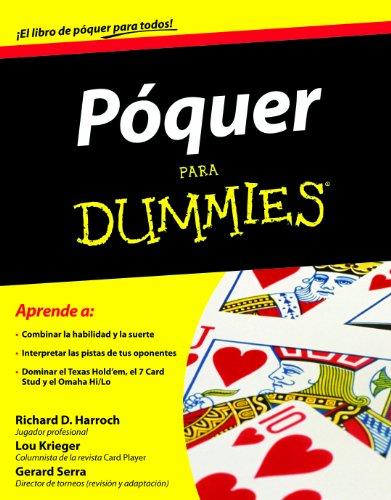 Póquer Para Dummies por Richard D. Harroch