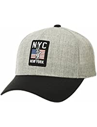 WITHMOONS Baseballmütze Mützen Caps Kappe Baseball Cap New York City US Flag Patch Hat for Men AC1992