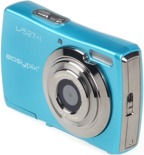 Easypix V527 Candy Digitalkamera (5 Megapixel, 8-fach opt. Zoom, 6,9 cm (2,7 Zoll) Display) iceblue