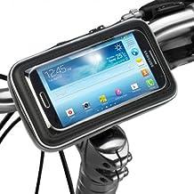 iKross - Soporte con montura y funda de bicicleta protectiva e impermeable para dispositivo con 9-14cm (3,5 - 5,5 pulgadas), color Negro