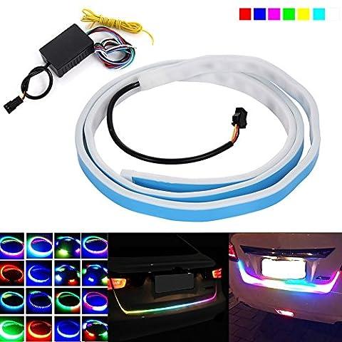 Hrph Mode 12V LED Auto Bremsen Licht Streifen Reitstock Streamer Flow Lamp Gürtel Tail Box Side Turn Signale Rückleuchten