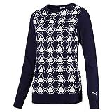 Puma Damen W Dassler Sweater Pullover, Peacoat, L