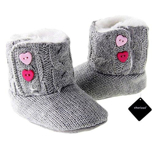 xhorizon TM FLX Unisex Baby Kids Soft Baumwolle Knitted Warm Weich Winter-Kleinkind Stiefel Schuhe Geschenk