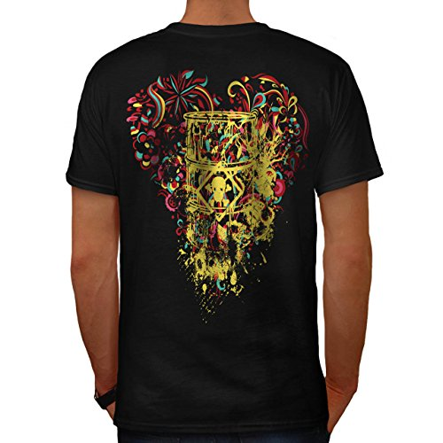Schädel Gift Tot Mode explosiv Herren M T-shirt Zurück | (Gürtel Explosive Kostüm)