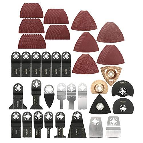 Yeshai3369 Mix oszillierende Multitool Karbonstahl Sägeblätter für Fein Bosch Makita – 100 Stück