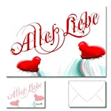 DigitalOase Geburtstagskarten Muttertagskarten Glückwunschkarten Valentinskarten Einladungskarten 1 Klappkarte incl. 1 weißes Kuvert GROSS UND EINDRUCKSVOLL DIN A5 (aufgeklappt DIN A4: ca. 20 x 30 cm) - aussen Glanzdruck - VERSANDFERTIG INNERHALB VON 1 - 2 TAGEN - DigitalOase ist Markenware
