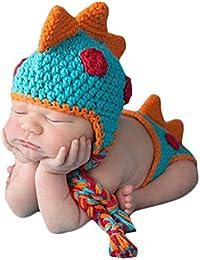 TOOGOO Accesorios de fotografia foto de punto de ganchillo bebeTraje de  panal sombrero de bebe hecho 56ef0fbda0b