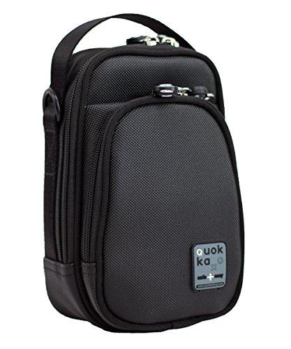 Quokka Small Bag schwarz - kleine Tasche für Rollstuhl, Rollator, Scooter, Fahrrad, Elektro-Rollstuhl, Wetterfest, Stoßfest mit Magnetverschluss und kontrastreicher Innenauskleidung