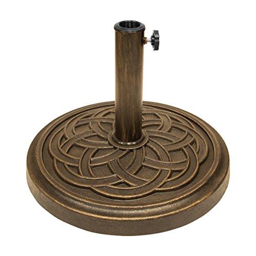 Garden kraft 16900 12 kg Motif celtique Résine réglable Base de parasol – Noir
