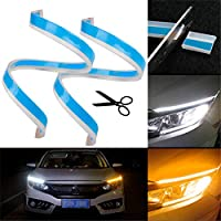 TOOGOO Daily Line Lamp Grille Kit LED Daytime Running Lamp DRL Fog Lamp Assembly For 2012-2014 Mercedes-Benz W204 C-Class C250 C300 C350 2048803224 2048803324