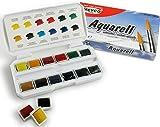 Aquarell - Farbkasten mit 12 Farben für Anfänger.