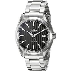 Omega Seamaster Aqua Terra 150 M - Reloj (Reloj de Pulsera, Masculino, Acero, Negro, Luz metálico, Acero, Luz metálico)