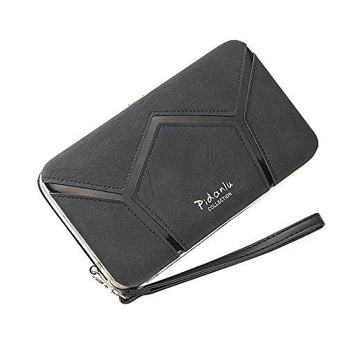 BIG SALE- 40% OFF -Woolala Phone Clutch Wallet Multi-pattern Iphone Samsung Phone Wallet Case with Wristlet, GeometryBlack GeometryBlack