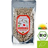 MACA ROUGE 300 CAPSULES BIOLOGIQUE PREMIUM QUALITÉ ORIGINAIRE DU PÉROU Aliment superbe de qualité prime, Convient aux végétariens et aux végétaliens Riche en vitamine B1, B2, B6, calcium, fer et zinc Certifié Biologique