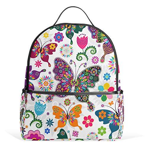 CPYang Schulrucksack Tribal Floral Animal Butterfly College Schultertasche Casual Daypack Reiserucksack für Mädchen Jungen Damen Herren -