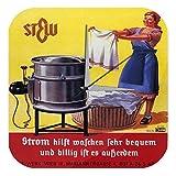 Wanduhr Technik Deko Marke Waschmaschine Wäschekorb Strom Werbung Acryl Wand Uhr 25x25 cm