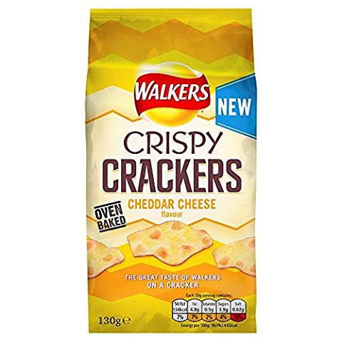 Walkers Crispy Crackers Cheddar Cheese,