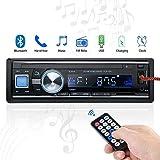 Radio de Voiture stéréo vidéo FM Radio, 4x60W Poste Radio Voiture,Autoradio Bluetooth avec Télécommande + Adaptateur DIN ISO avec 2 Petits Câbles + 1 Grand Câble