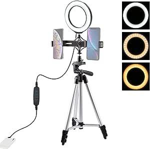 Lichtring Mit Stativ Teakpeak 6 2 Zoll Einstellbares Kamera
