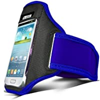 Colore blu Shelfone – per sport bracciale cinturino del sacchetto per HTC Desire V, HTC One V, HTC Rhyme, HTC Sensation XE, HTC radar, HTC status, HTC Trophy, HTC Droid Incredible 2, HTC EVO 3D, HTC Incredible S, HTC ChaCha, HTC HD 7, HTC 7 Pro, HTC 7 Surround, HTC 7 Mozart, HTC 7 Trophy, HTC Desire Z, HTC HD2, HTC Ozone, HTC Snap (L)