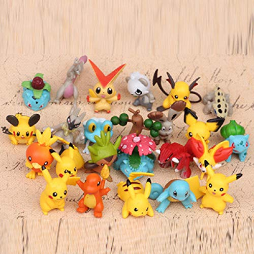 Yiyufengqing 24 Piezas Pokemon Pikachu pequeño dragón