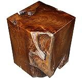 LioLiving, sgabello 'Tangled' in legno teak massiccio (#400149)