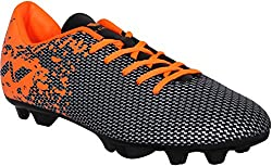 Nivia Premier Carbonite Range Football Studs, Mens Size 9 (Black/Orange)