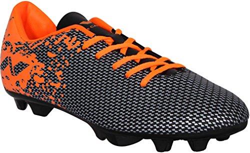 Nivia Premier Carbonite Range Football Studs, Men's UK 10 (Black/Orange)