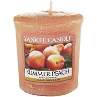 Yankee Candle Samplers Candele Votive Summer Peach, Cera, Arancione, 4.6 x 4.5 x 5.3 cm