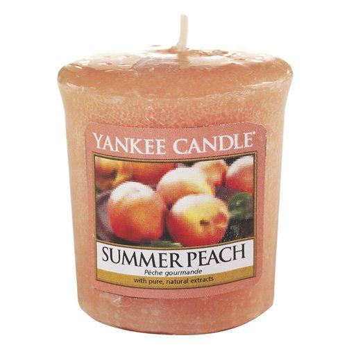 Yankee Candle 1507731E Bougie Votive Pêche d'Été Combinaison Orange 4,6 x 4,5 x 5,3 cm 49 g