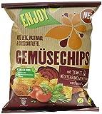 Kühne Gemüsechips aus Rote Bete, Pastinake & Süßkartoffel mit Tomate & Mediterranen Kräutern verfeinert, 10er Pack (10 x 75 g)