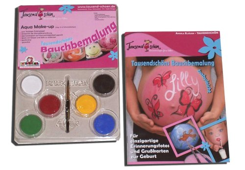 Eulenspiegel Tausendschön Bauchbemalungs-Set mit Schminkfarben von Eulenspiegel, Bellypainting -