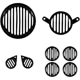Autofy Plastic Grill for Royal Enfield Bullet Classic 350 and 500 (Black, FBABAGRILL0005) - Set of 8