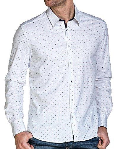 BLZ jeans - Stadt weißes Hemd des Mannes gedruckt Pi Weiß