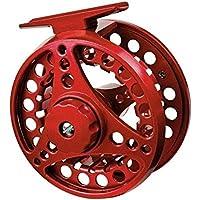 RLJJCS1163 Con 2 + 1 Comportamiento Durante, 9/10 Peso, 7/8, Aluminio Pesca con Mosca Pesca Ruedas for el Exterior 5/6 (Color : 85mm Red)