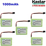Kastar 5-PACK AAAX3 3.6V MSM 1000mAh Ni-MH Rechargeable Battery For Uniden Cordless Phone BT-446 BT446 BP-446 BP446 BT-1005 BT1005 TRU8885 TRU8885-2 TRU88852 TRU8888 TRU9460 TRU9465 TRU9480 TCX-800