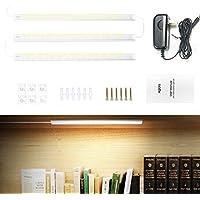 Aglaia Under Cabinet Light, Under Cabinet LED Lighting, Warm-White 15W 1,200 Lumen Led Bars for Cabinet, Kitchen, Shelf, Locker, Closet, Cabinet, Wardrobe, Drawers, 3 Packs