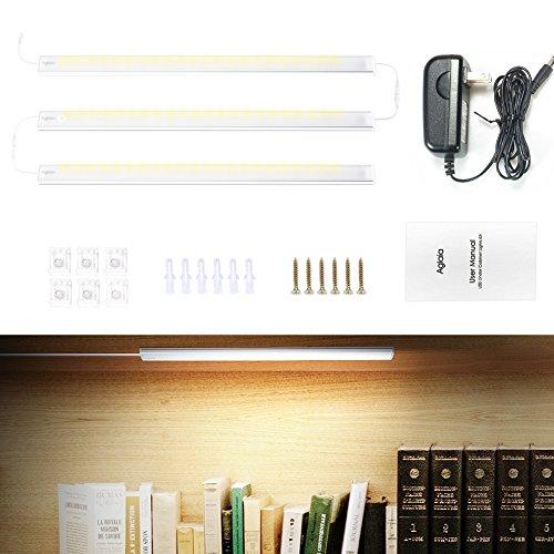 LED Unterbauleuchte Lichtleiste, 3er Set, dimmbar warmweiß 15W 800 Lumen 3000 Kelvin, erweiterbar, stromsparend und einfach anzubringen, die Leisten sind z. B. nutzbar als Schrankleuchte, Küchen-Unterbauleuchte, Unterbau-Lampe für Regale etc (Küchen-draht-regale)