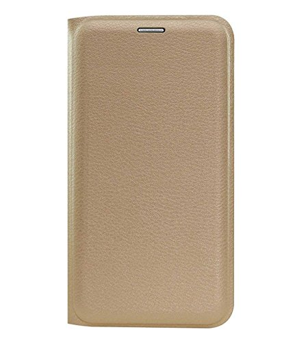 TBZ PU Leather Flip Cover Case for Samsung Galaxy On7 Prime -Golden