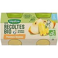 Blédina les Récoltes Bio 2 Petits Pots Pommes Ananas 260 g -