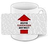 Tasse mit Spruch - Bester Fliesenleger der Welt - und positiven Eigenschaften
