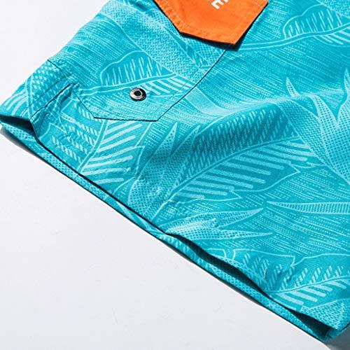 UJUNAOR 2019 Sommer Badehose Herren Kurz Surfen Trunks Patchwork Hosen Männer Strandhosen Mode Badeshorts Lässiger Beach Schnelltrocknend Shorts(Blau,X-Large)