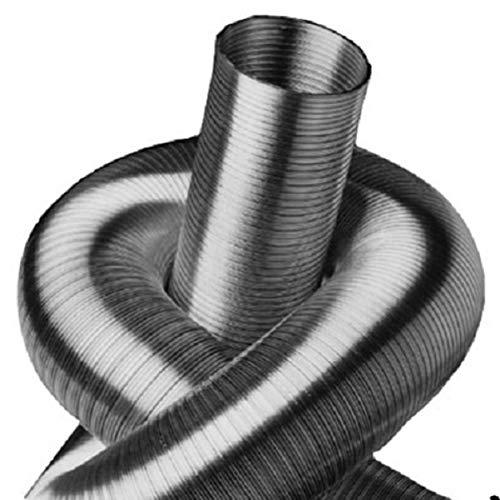 Rundrohrsystem Metall Alu-Flex-Rohr Verbinder T-St/ück Kaminaufsatz Reduzierst/ück Drosselklappe Verbinder mit R/ückstauklappe R/ückschlagklappe Y-St/ück Ablufthaube Deckenventil Wandrosette /Ø 125 mm, Verbinder