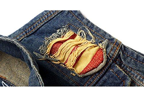 Cheerlife Herren Jeans Weste Ärmellose Jeansjacke Jeansweste Slim Fit Beiläufige Cowboy Weste Outwear Blau