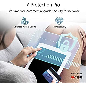 ASUS ZenWiFi AC Tri-Band Whole-Home Mesh WiFi System(CT8), Covers Up to 400 sq m or 4320 sq ft/4+ Rooms, 3 Gbps WiFi, Life-Time Free Network Security and Parental Controls, 4X Gigabit Ports, 3 SSIDs