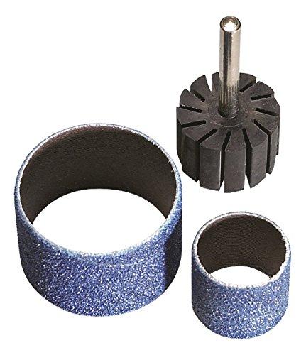 AES a.0413–50 bandes abrasives et support en caoutchouc, 25 mm x 25 mm Taille, P50 (Lot de 100)