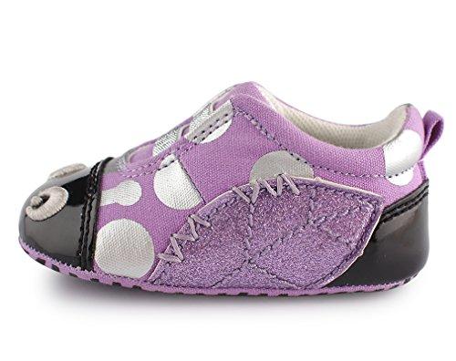 Cartoonimals Babyschuhe M盲dchen Jungen Neugeborene Weiche Rutschsicheren Baby Kinder Schuhe Ladybug Purple