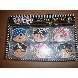 Gomas de piratas para cumpleaños, 15 ud.Caucho 15-pirata bolsos de fiesta para niños cumpleaños